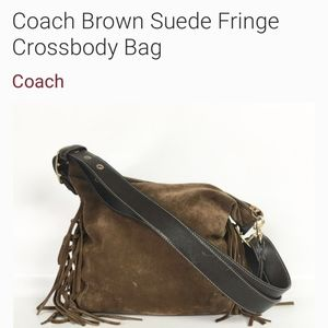 🔥 Coach 🔥 Ltd Suede Fringe Hobo/Crossbody Bag